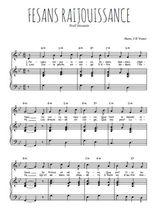 Téléchargez la partition de Fesans raijouissance en PDF pour Chant et piano