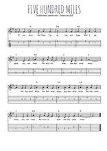 Téléchargez la tablature de la musique usa-five-hundred-miles en PDF