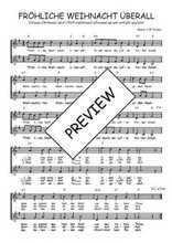 Téléchargez l'arrangement de la partition de Traditionnel-Frohliche-Weihnacht-uberall en PDF à deux voix