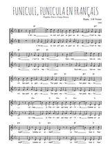 Téléchargez l'arrangement de la partition de Peppino-Turco-Luigi-Denza-Funiculi-Funicula-en-francais en PDF à deux voix