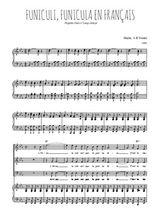 Téléchargez la partition de Funiculi, Funicula en français en PDF pour 3 voix SAB et piano