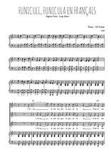 Téléchargez la partition de Funiculi, Funicula en français en PDF pour 3 voix SSA et piano
