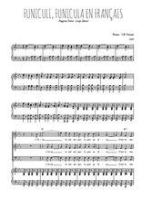 Téléchargez la partition de Funiculi, Funicula en français en PDF pour 3 voix TTB et piano