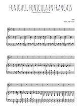 Téléchargez la partition de Funiculi, Funicula en français en PDF pour Chant et piano