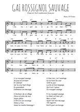 Téléchargez l'arrangement de la partition de Traditionnel-Gai-rossignol-sauvage en PDF à deux voix