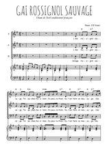 Téléchargez la partition de Gai rossignol sauvage en PDF pour 3 voix SAB et piano