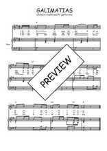 Téléchargez la partition de Galimatias en PDF pour Chant et piano