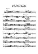 Gammes de blues au trombone Partition gratuite