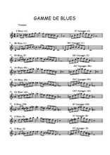 Aucun - Gammes de blues à la Trompette