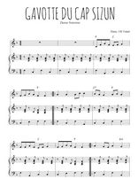 Téléchargez la partition de Gavotte du Cap Sizun en PDF pour Mélodie et piano