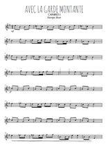 Téléchargez la partition en Sib de la musique bizet-carmen-avec-la-garde-montante en PDF