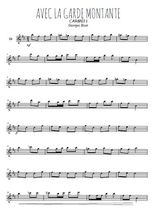 Téléchargez la partition pour saxophone en Mib de la musique bizet-carmen-avec-la-garde-montante en PDF