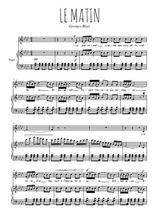 Téléchargez la partition de Le matin en PDF pour Chant et piano