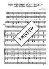 Téléchargez la partition de Der within Töchterlein en PDF pour 2 voix égales et piano