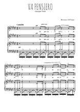 Téléchargez la partition de Va pensiero en PDF pour 2 voix égales et piano