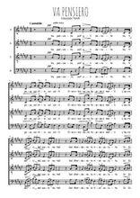 Téléchargez l'arrangement de la partition de verdi-nabucco-va-pensiero en PDF à quatre voix