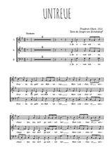 Téléchargez l'arrangement de la partition de Friedrick-Gluck-Untreue en PDF à trois voix