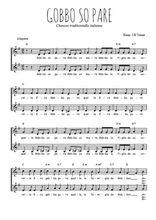 Téléchargez l'arrangement de la partition de Traditionnel-Gobbo-so-pare en PDF à deux voix