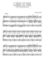 Téléchargez la partition de Gobbo so pare en PDF pour Chant et piano