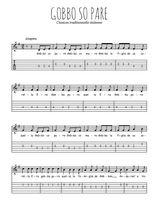 Téléchargez la tablature de la musique Traditionnel-Gobbo-so-pare en PDF