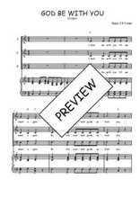 Téléchargez la partition de God be with you en PDF pour 3 voix SAB et piano