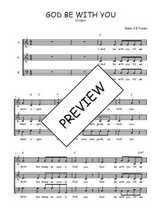 Téléchargez l'arrangement de la partition de Traditionnel-God-be-with-you en PDF à trois voix