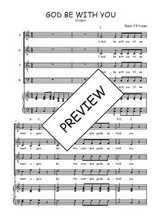 Téléchargez la partition de God be with you en PDF pour 4 voix SATB et piano