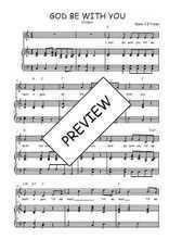 Téléchargez la partition de God be with you en PDF pour Chant et piano