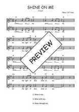 Téléchargez l'arrangement de la partition de Traditionnel-Shine-on-me en PDF à deux voix