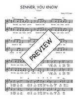 Téléchargez l'arrangement de la partition de Traditionnel-Sinner-you-know en PDF à deux voix