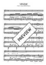 Téléchargez la partition de Venise en PDF pour Chant et piano