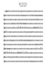 Téléchargez la partition en Sib de la musique gregorio-allegri-miserere en PDF