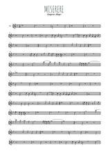 Téléchargez la partition de la musique gregorio-allegri-miserere en PDF, pour violon