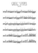 Téléchargez la partition de irlande-greig-s-pipes en clef de fa