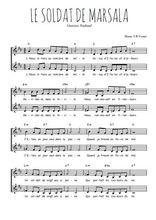 Téléchargez l'arrangement de la partition de Gustave-Nadaud-Le-soldat-de-Marsala en PDF à deux voix