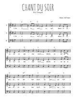 Téléchargez l'arrangement de la partition de H.G.-Naegeli-Chant-du-soir en PDF à trois voix