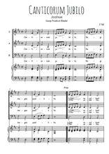 Téléchargez la partition de Canticorum jubilo en PDF pour 3 voix SAB et piano