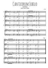 Téléchargez la partition de Canticorum jubilo en PDF pour 4 voix SATB et piano