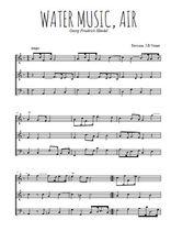 Téléchargez l'arrangement de la partition de handel-water-music-air en PDF à trois voix