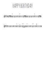 Téléchargez la partition en Sib de la musique happy-birthday en PDF