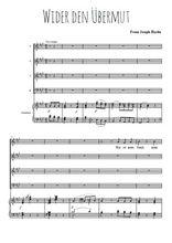 Téléchargez la partition de Wider den Übermut (4 voix) en PDF pour Chant et piano