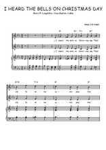 Téléchargez la partition de I heard the bells on Christmas day en PDF pour 2 voix égales et piano