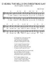Téléchargez l'arrangement de la partition de Henry-W.-Longfellow-Jean-Baptiste-Calkin-I-heard-the-bells-on-Christmas-day en PDF à deux voix