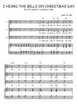 Téléchargez la partition de I heard the bells on Christmas day en PDF pour 3 voix SAB et piano