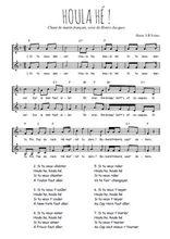 Téléchargez l'arrangement de la partition de Traditionnel-Houla-he en PDF à deux voix