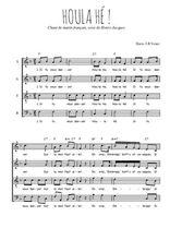 Téléchargez l'arrangement de la partition de Traditionnel-Houla-he en PDF à quatre voix