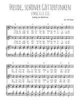 Téléchargez la partition de Freude, schöner Götterfunken en PDF pour 2 voix égales et piano