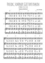 Téléchargez la partition de Freude, schöner Götterfunken en PDF pour 3 voix SAB et piano