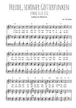 Téléchargez la partition de Freude, schöner Götterfunken en PDF pour Chant et piano