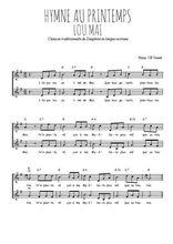 Téléchargez l'arrangement de la partition de hymne-au-printemps-lou-mai-occitan en PDF à deux voix